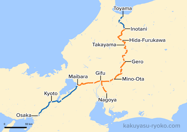 Hida Limited Express Route Map